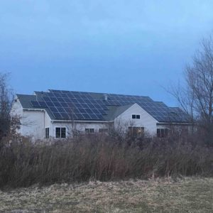 Roof mounted solar array at Countryside Animal Hospital