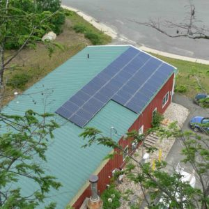 Roof mounted solar system at Dean's Beans