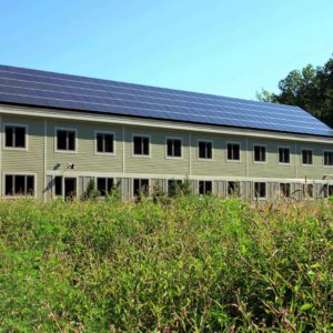 Roof mounted photovoltaic system at SWCA Environmental Consultants