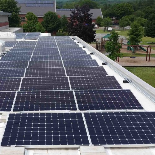 Roof mounted solar array at Williamstown Youth Center