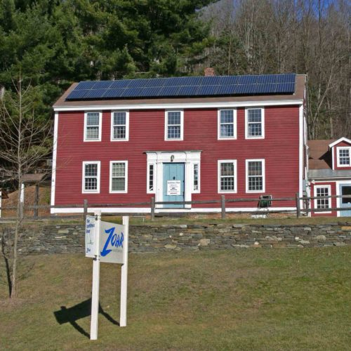 Roof mounted solar system on Zoar Outdoor