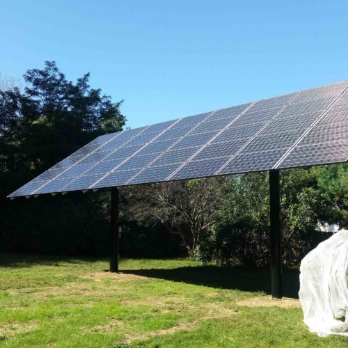 Top-of-Pole Mount (TPM) Solar System, 12.4 kW