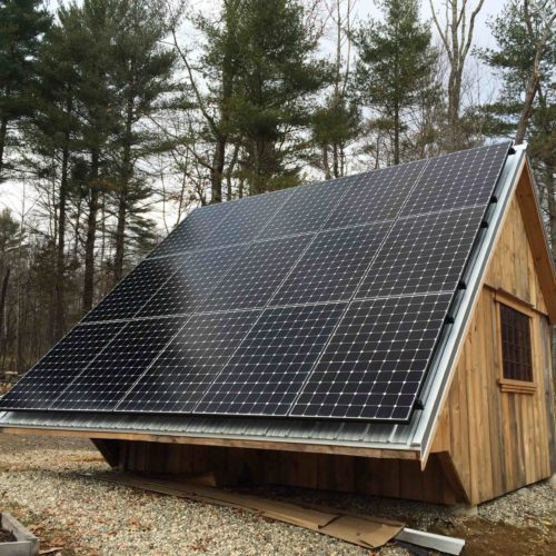 Custom Structure with Solar Panels, 5.18 kW