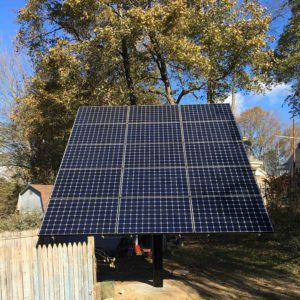 Top-of-Pole Mount (TPM) Solar System, 4.9 kW