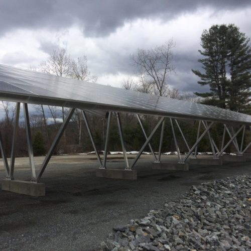 Solar carport western mass